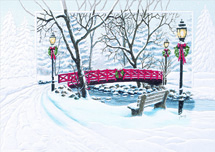 Red Bridge Crossing Holiday Cards